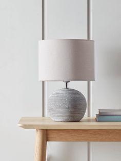 NEW Round Concrete Bedside Lamp - Table Lamps - Lamps & Lights - Lighting Bedside Table Decor, Bedside Lamp, Bedside Cabinet, Lamp Table, Dining Decor, Scandinavian Lamps, Scandinavian Furniture, Bedroom Lamps, Master Bedroom