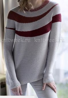 Discussion on LiveInternet - Russian Service Online Diaries Knit Vest Pattern, Knitting Patterns, Russian Crochet, Knit Crochet, Knitting Stitches, Knitting Designs, Nordic Sweater, Knit Art, Knit Fashion