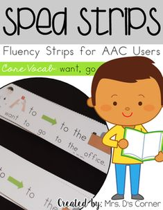 Sentence strips for  students to learn concept vocabulary.