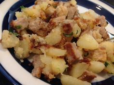 Perfect for leftover pork loin - even better if you have a little leftover juices (gravy or pan drippings) from your roast pork. Our family loves this. Its a Jacques Pepin recipe. (cooking a ham pork chops) Leftover Pork Loin Recipes, Leftover Pork Tenderloin, Pork Roast Recipes, Pork Tenderloin Recipes, Leftovers Recipes, Meat Recipes, Pork Meals, Recipies, Dinner Recipes