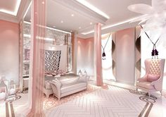 luxury feminine commercial interior design - Google Search