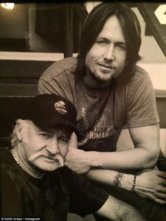 Sad: Keith Urban's father Robert passed away after losing battle with cancer, December 2015