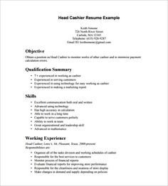 freight forwarding cashier resume template resume templates and samples pinterest template - Lowe Customer Service Associate Sample Resume