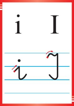 Alfabet polski, pisany dla dzieci do druku 18 Kids Learning, Hand Lettering, Alphabet, Preschool, Writing, Education, Cubes, Google, Improve Handwriting