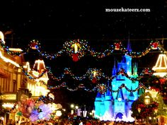 Disney World at Christmas: Main Street, U.S.A.