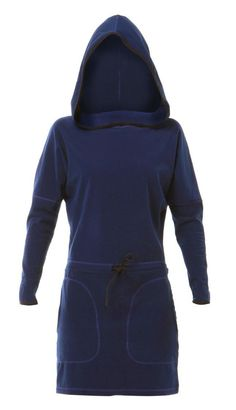 Zhik Womens Hydophobic Fleece Hooded Dress MonkeyFist Marine
