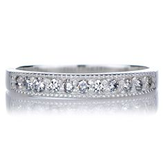 Emitations Sterling Cubic Zirconia Eternity Band Ring (Size ), Women's
