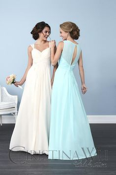 bridesmaid styles with keyhole backs available at Spotlight Formal Wear!