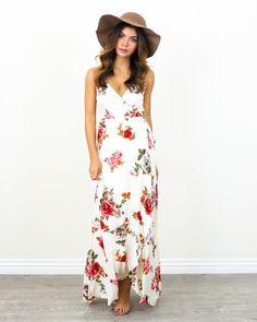 Kellen Wrap Maxi Dress - PREORDER