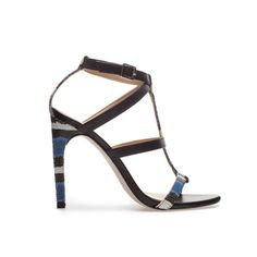 #ZARA COMBINED SANDAL TWO TONE BLUE BLACK CAD$99.99  Ref. 2381/201