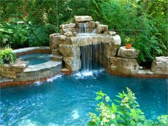 Having a pool sounds awesome especially if you are working with the best backyard pool landscaping ideas there is. How you design a proper backyard with a pool matters. Luxury Swimming Pools, Luxury Pools, Swimming Pools Backyard, Dream Pools, Ponds Backyard, Swimming Pool Designs, Pool Spa, Pool Landscaping, Backyard Pool Designs