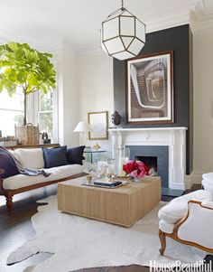 Designer Ken Fulk chose a black and white palette, softened with neutrals and natural textures.