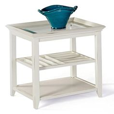Progressive Furniture Sandpiper II Rectangular End Table, Brushed White -- Visit the image link more details. (This is an affiliate link) #KitchenTableIdeas