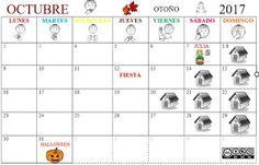 SUSANA Maestra de A.L.: Calendario mensual OCTUBRE