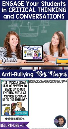 Take A Stand Against Bullying: 25 Anti-Bullying Digital Bell Ringers for Secondary Students Middle School Ela, Middle School English, Middle School Classroom, School Teacher, Teaching Kids, Creative Teaching, First Day Of School Activities, Bell Ringers, Bullying Prevention