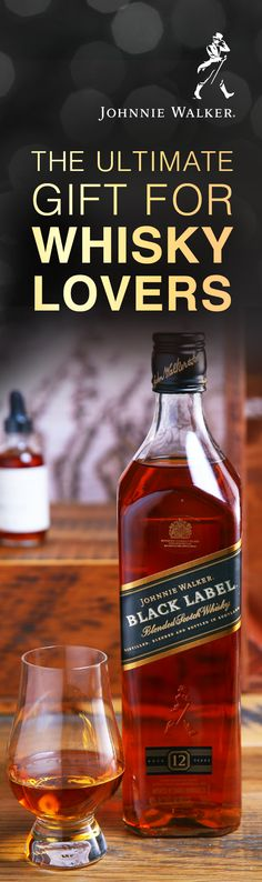 For those who love complex flavors, give a Blended Scotch Whisky. It combines the finest single malts and single grains from all 4 corners of Scotland to create a distinct, balanced style of whisky. For example, Johnnie Walker Black Label contains over 30 whiskies, each aged at least 12 years. More than 100 years after it was first introduced, it continues to be the iconic Blended Scotch and the ultimate gift for any whisky lover.