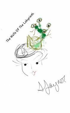 Hat sketch for Labyrinth collection.  Help fund it! http://www.kickstarter.com/projects/305944940/chef-bizzaro-millinery-to-represent-nwi-on-etsy-ru