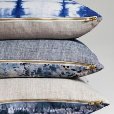 Love the zippers. Rebecca Atwood pillows via Honey Kennedy blog.