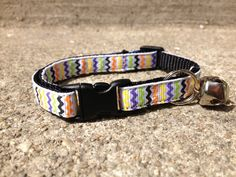 Halloween Chevron  Breakaway Adjustable Cat Collar by TheEmPURRium, $8.50