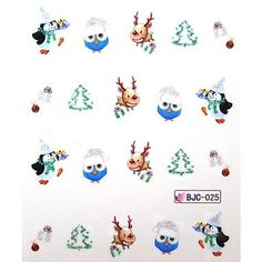 Tint Water Transfer Christmas Series Nail Sticker 025 *** Details can be found by clicking on the image.
