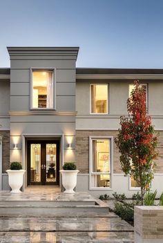 Lagunabay Interior Design Exterior Architecture Photo - pinupi love to share Design Exterior, Modern Exterior, Exterior Paint, Exterior Homes, Exterior Cladding, Exterior Colors, Villa Design, Modern House Design, Modern House Facades