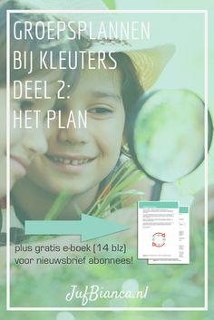 Groepsplannen bij kleuters deel 2 - het plan - Met gratis e-boek voor nieuwsbrief abonnees. Meld je aan! Adhd Odd, Kids Gifts, Coaching, Kindergarten, Classroom, Teacher, How To Plan, Education, Children