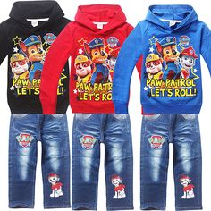 2016 spring New Fashion kid boys clothes Cotton sport Hooded Paw Dogs Hoodies pants Children clothing set Brand for Kids 963-in Clothing Sets from Mother & Kids on Aliexpress.com | Alibaba Group