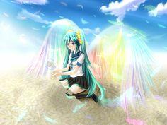 Miku with rainbow wings