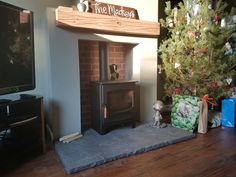 Latest Pic Fireplace Hearth limestone Style Not going to lie… Think we nailed it! Charnwood Oak Beam, Black and Gold limestone hearth Wood Burner Fireplace, Limestone Fireplace, Fireplace Hearth, Fireplaces, Hearth Stone, Log Burner, Stone Cuts, Beams, New Homes