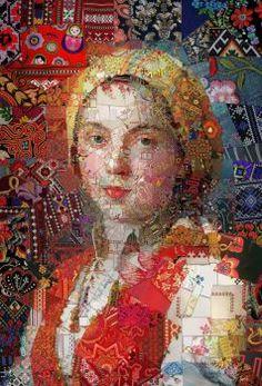 A Bit Of Fun From Artist, Chavis Tsevis ~ Visual Mosaic Design