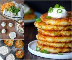 Cheesy Leftover Mashed Potato Pancakes♥ Mouthwatering♥