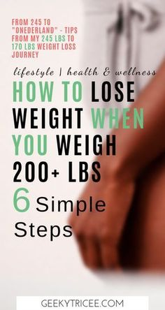 """6 simple weight loss tips for women weighing over 200 lbs I used to get into """"onederland"""" from 245 lbs. These are also great weight loss tips for beginners. Give them a try, they worked for me. Diets Plans To Lose Weight, Diet Food To Lose Weight, Weight Loss Meals, Weight Loss Challenge, Weight Loss Drinks, Losing Weight Tips, Fast Weight Loss, Weight Loss Program, Weight Loss Journey"""