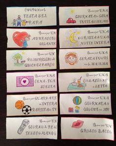 Festa del papà, buoni regalo idee da fare con i bambini - coupon - father's Day ideas - http://www.cookandcraft.it/festa-del-papa-idee-lavoretti/