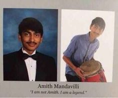 Amith's yearbook quote: