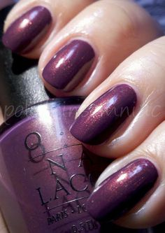 OPI Dusty Week: Peel Me a Gobi Grape | polish insomniac