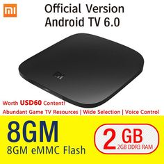 Xiaomi TV BOX 3 Android 6.0 2/8G Smart 4K Quad Core HDR Movie WIFI Google Play Netflix Red Bull