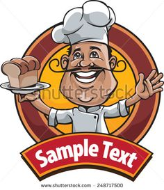 Master Chef, icon or logo for restaurants and bakeries