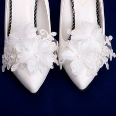 Organza Flowers, Bridal Flowers, Bridal Shoes, Wedding Shoes, Flower Shoes, Corsage Wedding, Only Shoes, Shoe Clips, Prom Shoes