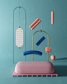 Timur Mitin is a Moscow-based digital artist working with abstract shapes. Website Color Palette, Pastel Colour Palette, Bauhaus Colors, 3d Shapes, New Media, Artist At Work, Constellations, New Art, Paper Art