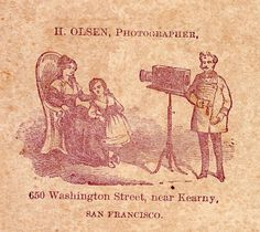 1860s CDV Photo Unusual Photographer w Camera Backstamp Olsen San Francisco CA | eBay
