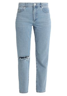 French Connection HIGH RISE - Straight leg jeans - light blue denim for Free delivery for orders over Kurti With Jeans, Jeans Pants, Trousers, 90s Outfit, Denim Outfit, Light Blue Jeans, Blue Denim, Fall Outfits, Cute Outfits