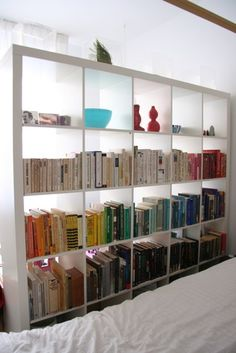 Office organizing.  Expedit Shelf as Room Divider and Storage