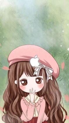 Cute iPhone Wallpapers #cute #iphone #wallpapers #iphonewallpapers Cute Wallpapers, Cute Chibi, Girl Cartoon, Girly Art, Chibi Girl, Kawaii Drawings, Cute Drawings, Anime Chibi, Cute Love Cartoons