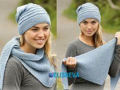 Комплект вязаный спицами: шапка и шаль от Drops Design   Блог elisheva.ru
