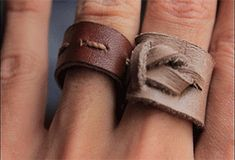 7 Scrap Leather Projects: 10 Steps (with Pictures) Leather jewelry diy 7 Scrap Leather Projects Leather Jewelry Tutorials, Diy Leather Projects, Leather Diy Crafts, Leather Crafting, Diy Leather Rings, Leather Earrings, Diy Jewelry Unique, Lace Jewelry, Boho Jewellery