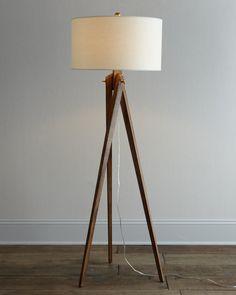 Awesome Tripod Floor Lamp Styles. Teak Pencil Base Freestanding Dark Brown  Tripod Floor