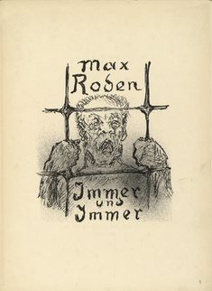 Alfred Kubin. Immer und Immer (Again and Again). 1937 :: MoMA : German expressionism : Illustrated Books