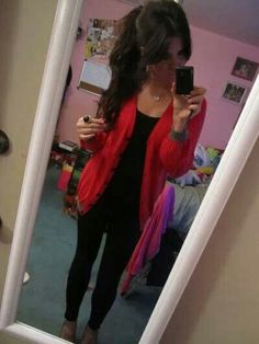 Outfit of the night, red sweater