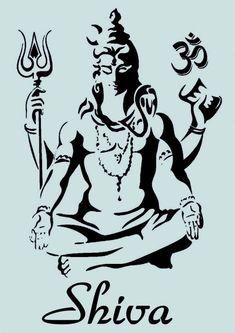 Schablone ** - Shiva Gottheit - ** A4 **** für Stoffe, Möbel USW. - ** Nr.: 949   eBay // Jimena Lizana Arte Shiva, Shiva Art, Lord Murugan Wallpapers, Shiva Lord Wallpapers, Stencil Art, Stencils, Lord Shiva Sketch, Shiva Tattoo Design, Shiva Wallpaper