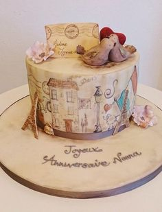 Parisian chic! ~ hand painted and all edible